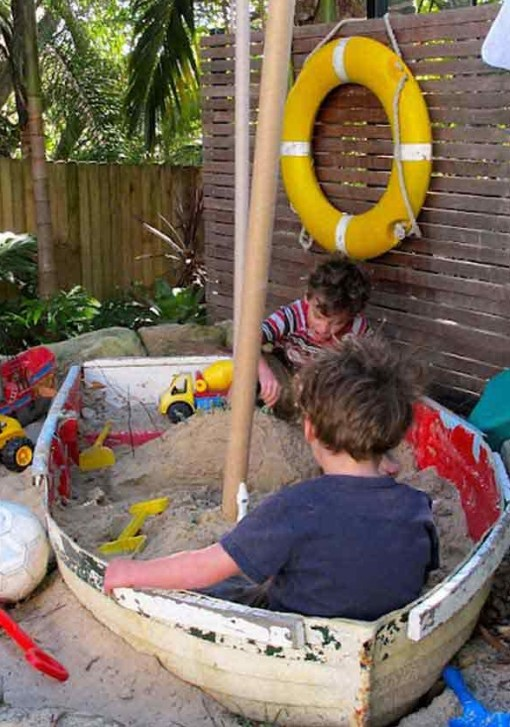 Rowing Boat Transformed Into a Sand Pit