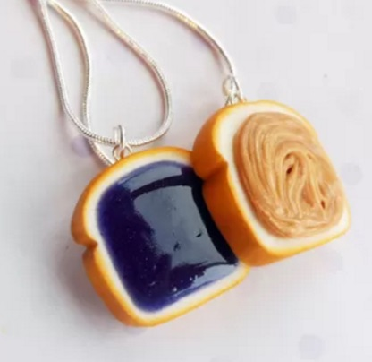 Peanut Butter and Jelly Sandwiches Friendship Necklace