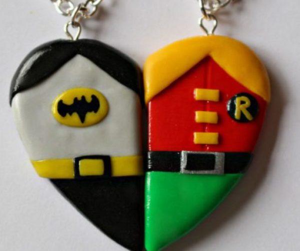 Batman And Robin Friendship Necklace