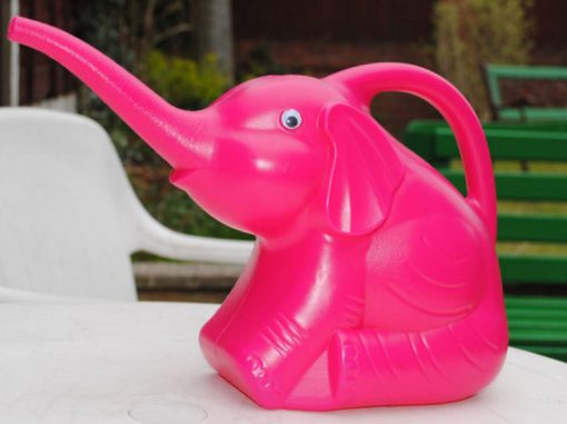 Pink Elephant Watering Can