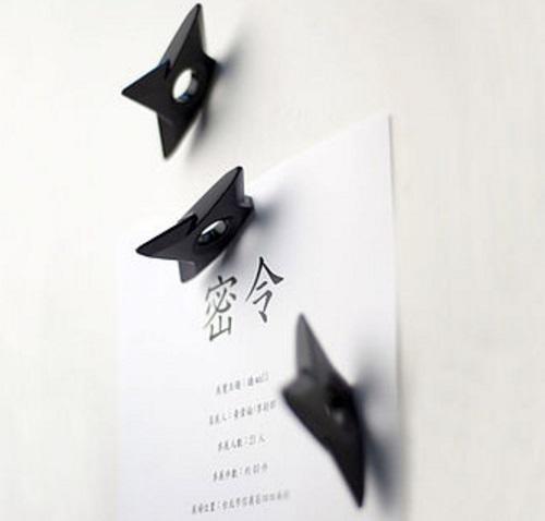 Ninja Shuriken Fridge Magnets