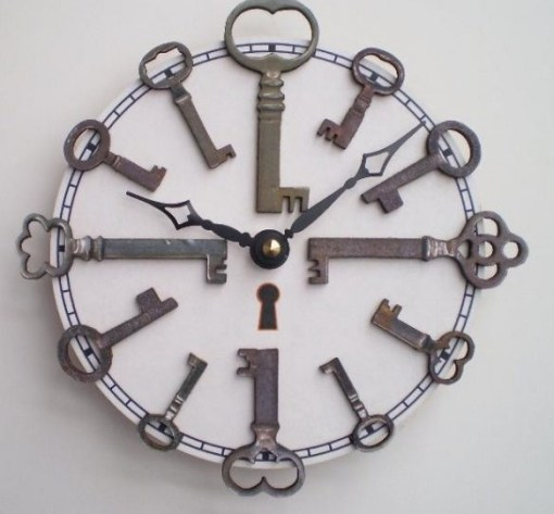 Old Keys Transformed Into a Clock