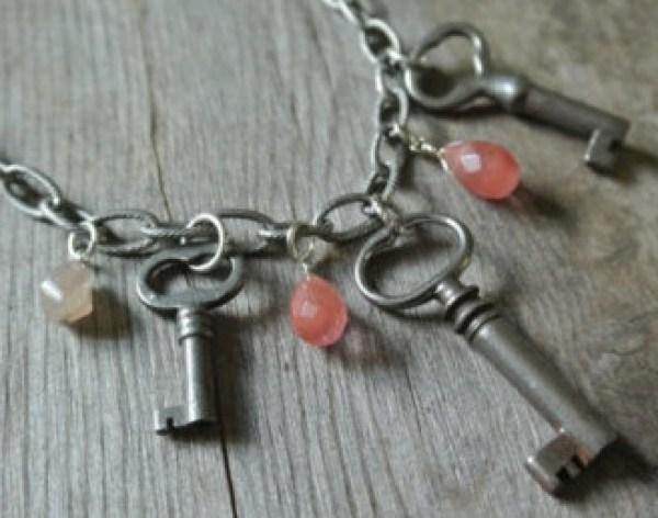 Old Keys Transformed Into Necklace Pendants