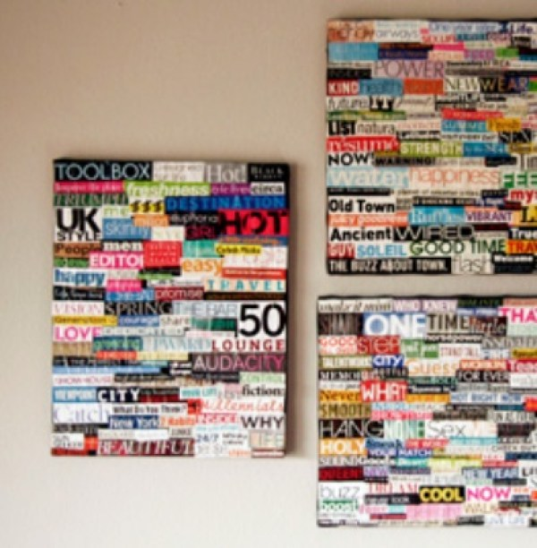 Old Magazine Used to Make Typography Art Collages
