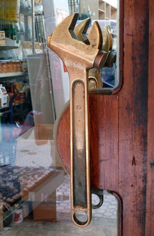 Spanners / Wrenches Used To Make a Door Handle