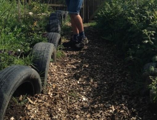 Car Tyres Transformed Into Garden Edging