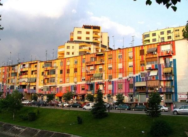 Tirana, Tirana's Colourful Facade