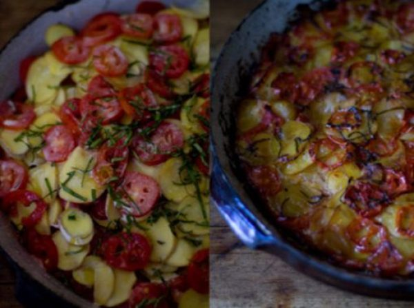 Spiced Tomato Gratin
