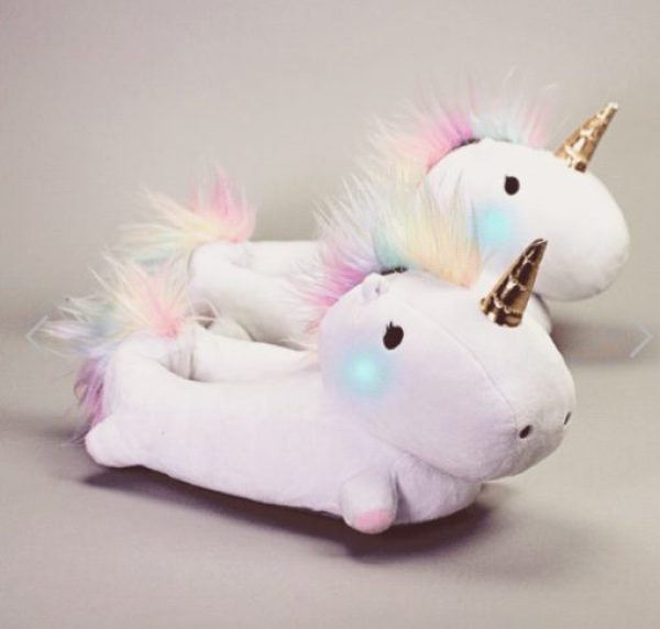 Novelty Light-up Unicorn Slippers