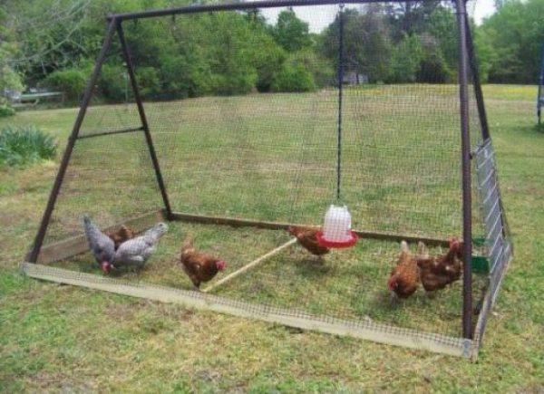 Chicken Coop Made From a Garden Play Set