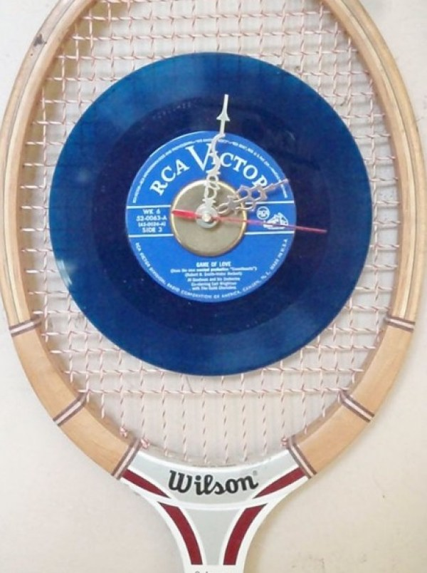 Sports Racket Transformed Into a Wall Clock