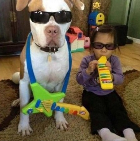 Dog Copying Kid