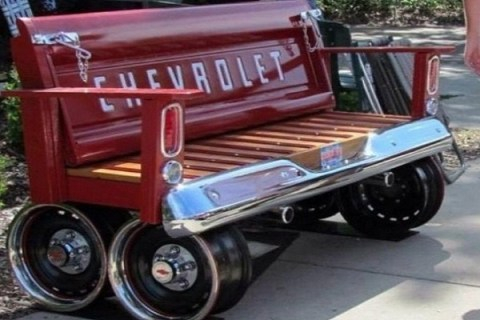 Top 10 Amazing Things Repurposed Into Benches