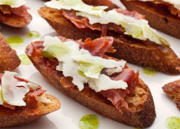 Serrano Ham and Membrillo Crostini