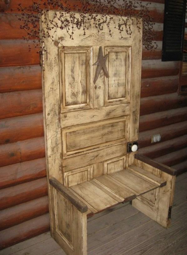 Door Repurposed Into an Outdoor Chair