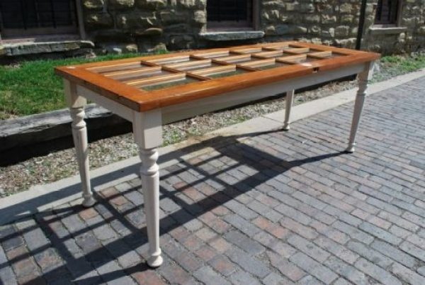Door Repurposed Into a Dining Table