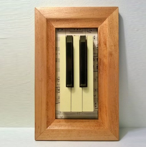 Piano Keys Used To Make Decor Art
