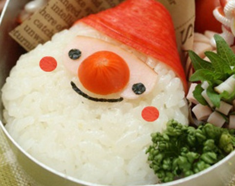 Santa Claus Rice Balls
