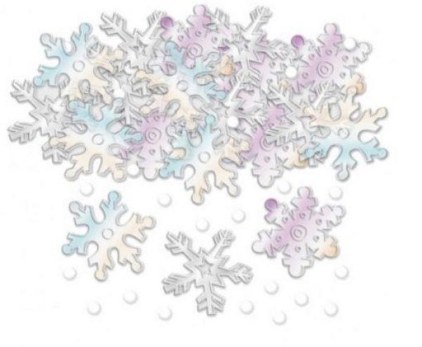 Snowflake Embossed Confetti