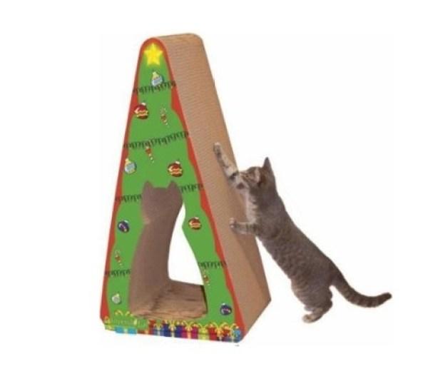 Cat Christmas Scratch Tree