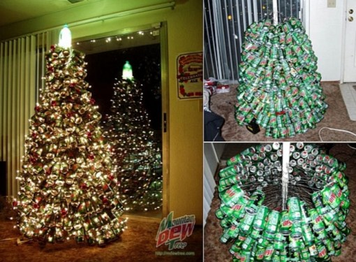 Christmas Tree Made From Recycled Drinks Cans