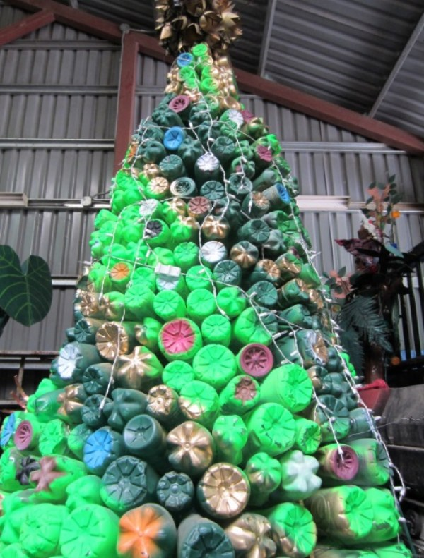 Christmas Tree Made From Plastic Bottles