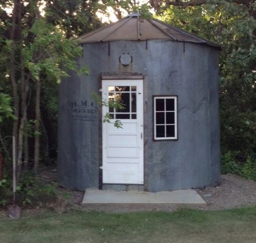 Grain Silo Transformed Into a Garden Shed