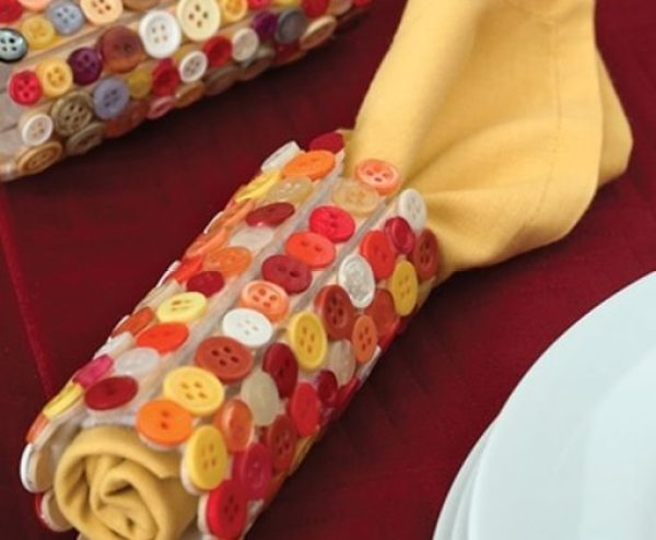 Buttons Turned into Napkin Rings