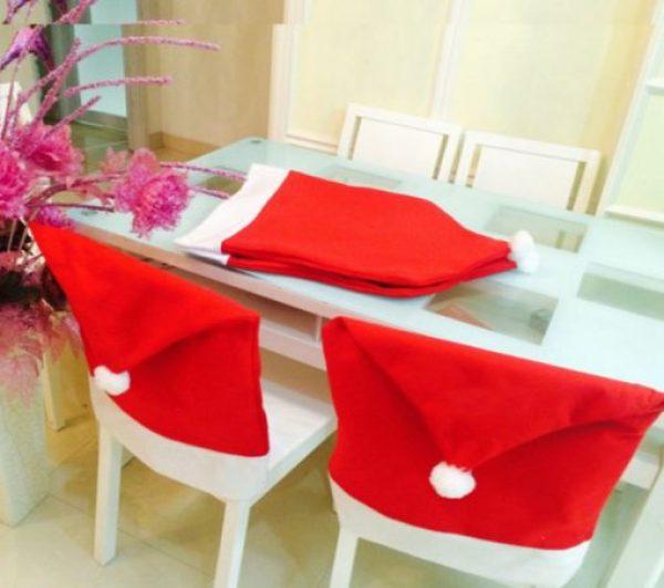 Santa Hat Dining Chair Slipcovers