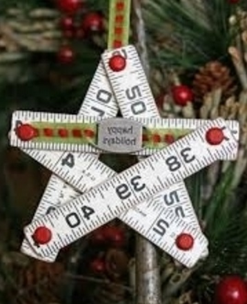 Tape Measure Recycled Into Christmas Tree Decorations
