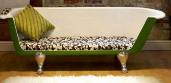 Sofa Made From a Repurposed Bathtub