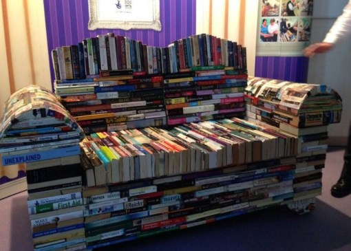 Sofa Made From a Repurposed Books