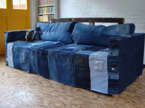 Sofa Made From a Repurposed Jeans