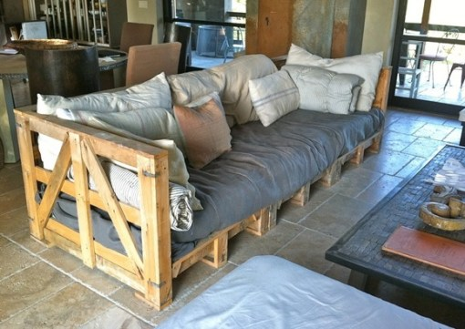 Sofa Made From a Repurposed Pallets