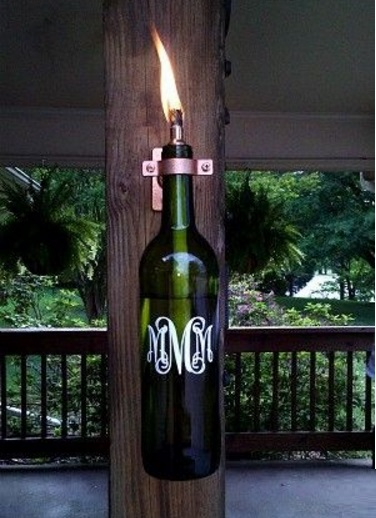 Lantern Made From a Champagne Bottle