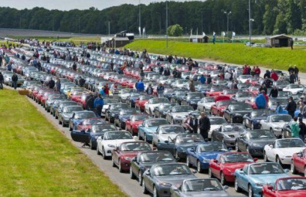 Longest Parade of Mazda Cars