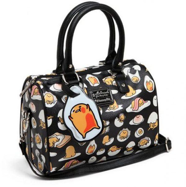 Gudetama Print Leather Handbag