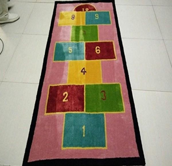 Hopscotch Themed Rug by Jianhua