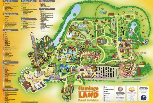 Flamingo Land Map