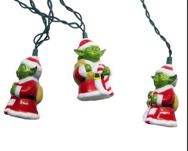 Santa Yoda Christmas String Lights