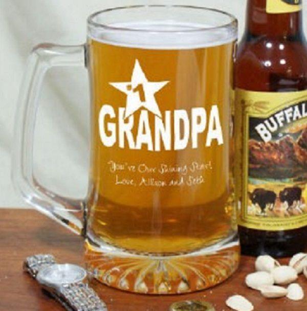Personalised Grandpa Beer Mug