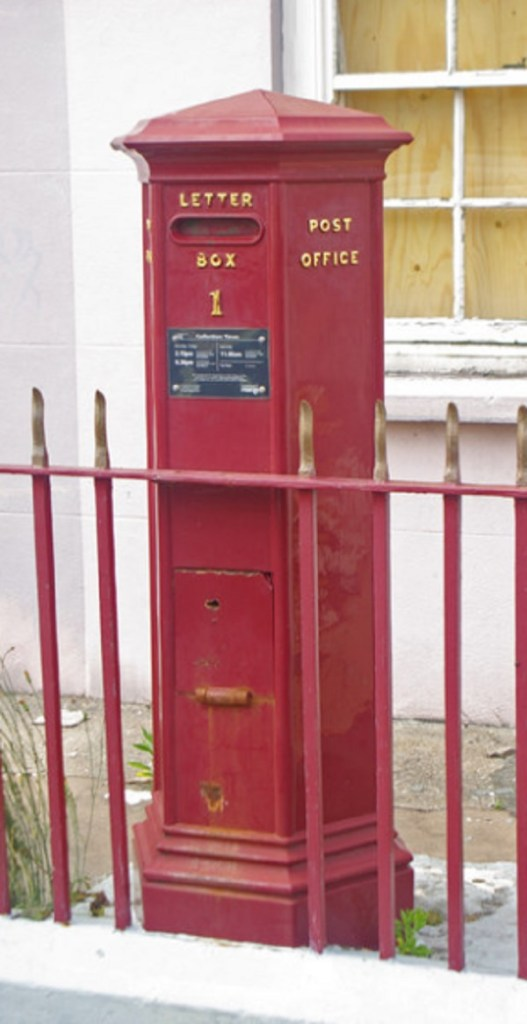 Pillar Box in St Peters Port, Guernsey