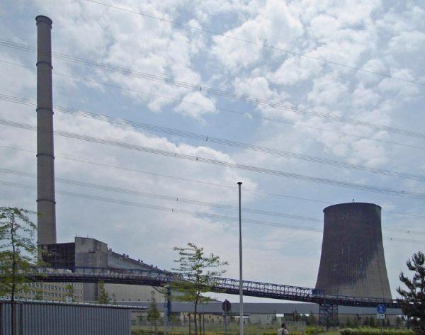 Chimney of Lippendorf Power Station, Neukieritzsch, Germany