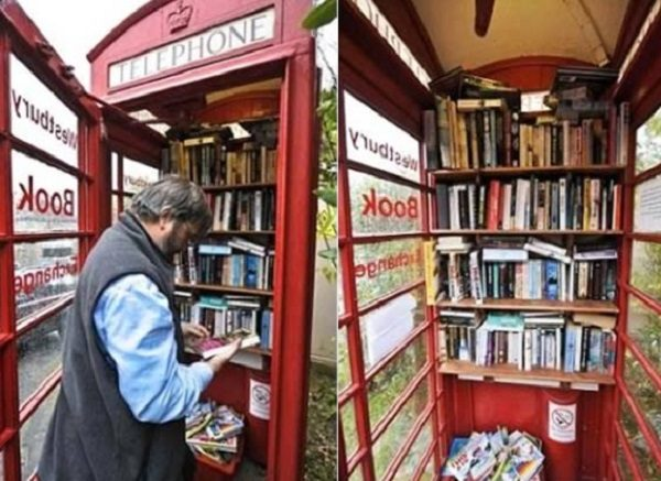Public Telephone Booth Library, UK