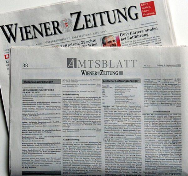 Wiener Zeitung Newspaper