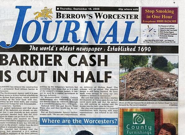 Worcester Journal Newspaper
