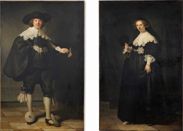 Pendant portraits of Maerten Soolmans and Oopjen Coppit by Rembrandt