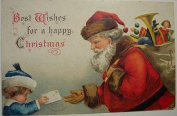 Ellen Clapsaddle Signed Christmas Postcard