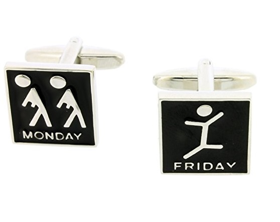 Monday/Friday Cufflinks