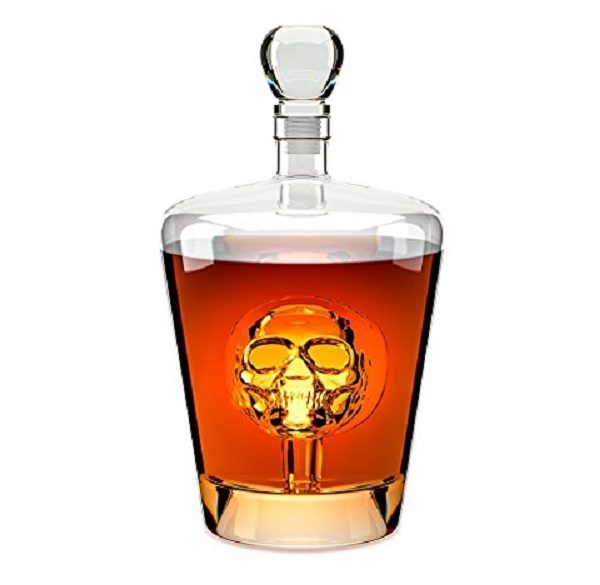 Internal Skull Style Whisky Decanter